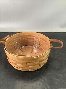 "Vintage 1994 Longaberger Round Basket, 10"""