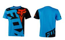 blue&black Fox T-shirt Premium Tshirt Basic Fox Tee Hurley Moto Cross Racing Men