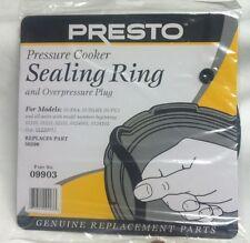 Presto 09903 9903 Pressure Cooker Sealing Ring Gasket+ Overpressure Plug GENUINE