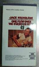 One Flew Over The Cuckoo's Nest VHS VG++ untested Jack Nicholson