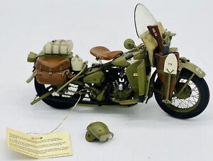Vintage Franklin Mint Model: 1942 Harley Davidson WLA Military Motorcycle Unique