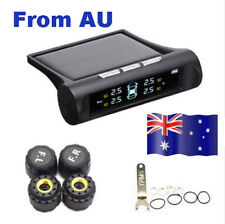 TPMS Tyre Tire Pressure Monitor System Solar Wireless +4 External Sensor Replace