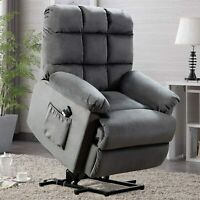 Power Lift Recliner Chair Safety Motion Padded Seat Sofa for Elderly Living Room