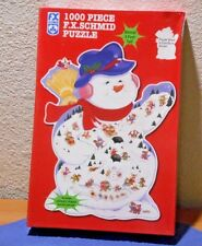 New FX Schmid Puzzle Shaped Snowman Winter Carnival Almost 3 Feet Tall