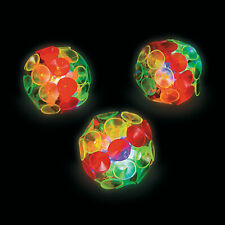 Light-Up Suction Cup Balls - Toys - 12 Pieces