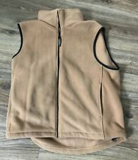 woolrich Mens Fleece Vest Size Large Hunting Fishing Casual EUC Goldish Brown