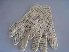 Vintage Knit Child's Cream Gloves