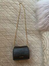 Alexander Mcqueen Box Bag Chain Black Croc Chloe Fendi