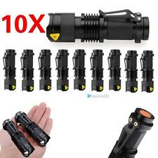 10pcs Mini  CREE Q5 LED Flashlight Torch 6000LM Zoomable Lamp Light TR