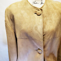 Vintage Frederick & Nelson Seattle Women's Brown Suede Long Jacket Coat | Size M