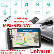 7'' Touch Screen HD 1080P 8G Memory GPS Navigation+MP5 Player+North American Map