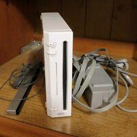 Nintendo Wii Gaming Console Sensor Cords Gamecube Compatible White RVL-001(USA)