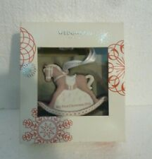 Wedgwood Pink Christmas 2016 Rocking Horse Babys 1St Christmas Ornament S-61
