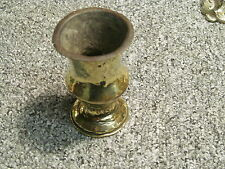 Single  Trench Art - Brass Shell Case Vase  approx 3 1/4 ins high
