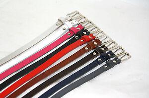 Genuine Leather Belt B15 15mm wide Nickle Buckle 9 COLOURS  S,M,L,XL,XXL,XXXL