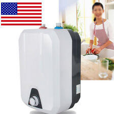8L Electric Tankless Hot Water Heater Kitchen Bathroom Home 1500W 110V 55℃-75℃