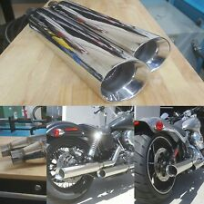 Harley / Indian Slip-On Slanted Pipes Stainless Steel Made in USA Universal Fit