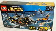 SEALED 76034 LEGO The Batboat Harbor Pursuit with DEATHSTROKE 264 pc set RETIRED
