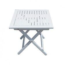 Gartentisch weiss lackiert Beistelltisch klappbar Balkontisch Holztisch Teetisch