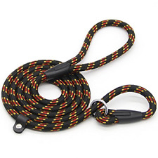 Coolrunner 5 FT Nylon Dog Leash Standard Training Adjustable Pet Slip Lead for