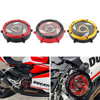CNC Racing Clear Clutch Cover & Spring Retainer For Ducati 1199 959 Panigale V2