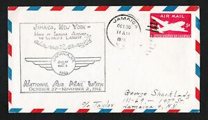 1946 SCOTT #UC14 NATIONAL AIR MAIL WEEK JAMAICA NY