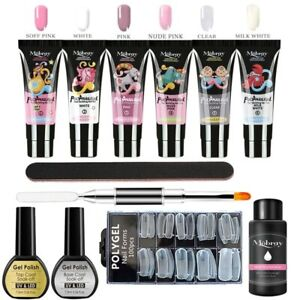 Poly UV Gel Manicure Set Extend Builder Nail Kits Finger Extension LED Acrylic