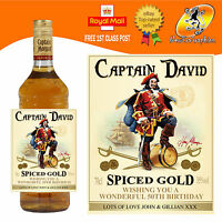 PERSONALISED JAMAICA SPICED GOLD RUM BOTTLE LABEL BIRTHDAY ANY OCCASION GIFT