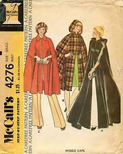 1970's VTG McCall's Misses' Cape Pattern 4276 Size S  UNCUT