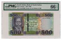 SUDAN banknote 500 POUNDS 2018. PMG MS-66 EPQ