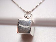 Very Small Cube Square Pendant 925 Sterling Silver Corona Sun Jewelry