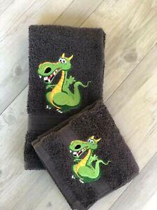 Kids Hand Towel Washer Set Dragon Bathroom Baby Childrens Gift Christmas