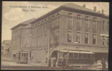 Postcard SALEM Ohio/OH  Corner Garfield & McKinley w/2 Trolleys/Streetcars 1907