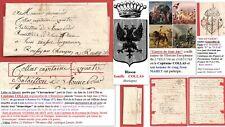 """Lettre 1756 au Capitaine COLLAS """"GUERRE DE SEPT ANS"""": Missive par chevaucheur"""