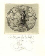 Rare Konstantin Kalinovich, Kalynovych free etching, no exlibris