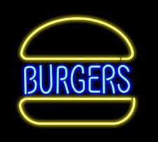 "Burgers Store Open Neon Lamp Sign 14""x10"" Acrylic Bright Lighting Bar Bedroom"