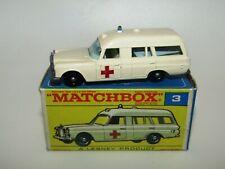Matchbox Regular Wheels No 3 Mercedes Benz Binz Ambulance N Mint in F BOX RARE