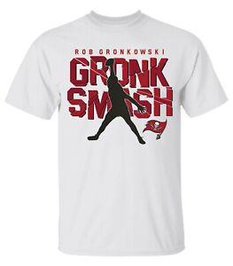Men's Tampa Bay Buccaneers Gronk Smash White T-Shirt For Fan 2021 S-3XL