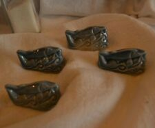 Four (4) Ceramic Red Rose Tea/Wade Figurines - Sturgeon - Light Blue - England