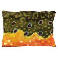 Rainbow Trout Pillow Case CafePress Vintage Fishing 1587392119