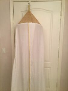 Pottery Barn Kids White Gold Glitter Canopy Cotton With Gold Trim