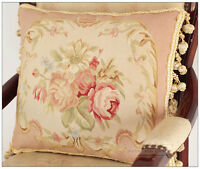 PINK QUEEN 18X14 Aubusson Pillow Cover Shabby French Chic Rose Chair Bed Sofa
