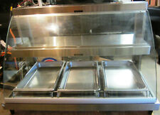 Hatco Grcd-3Pd Countertop Heated Display w/ Curved Glass and 3 Pan Dual Shelves