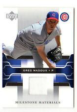 GREG MADDUX MLB 2005 UPPER DECK MILESTONE MATERIALS (CUBS)