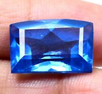 AAA Brazilian 16.05 Ct Natural London Blue Topaz Loose Gemstone Certified F0276