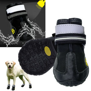 Anti-slip Dog Shoes Reflective Waterproof Warm Dog Boots for Large Dogs Walking