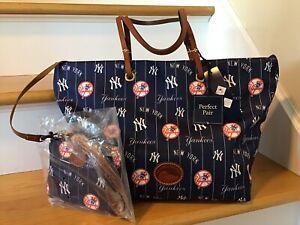 NWT Dooney  Bourke NY Yankee's Addison Tote Bag handbag & Wristlet MlB $348