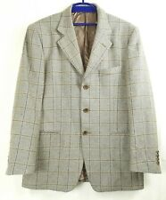 Jaeger Men 48 Brown Plaid Blazer Wool Cashmere Blend Jacket/Blazer ~