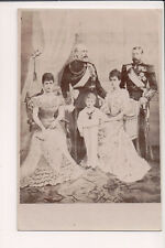 Vintage Postcard King Edward VII Queen Alexandra of Great Britain & Family