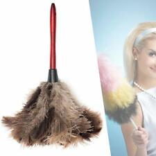 Anti-static Ostrich Feather Fur Brush Duster Dust Cleaning Tools Wood Handle SP